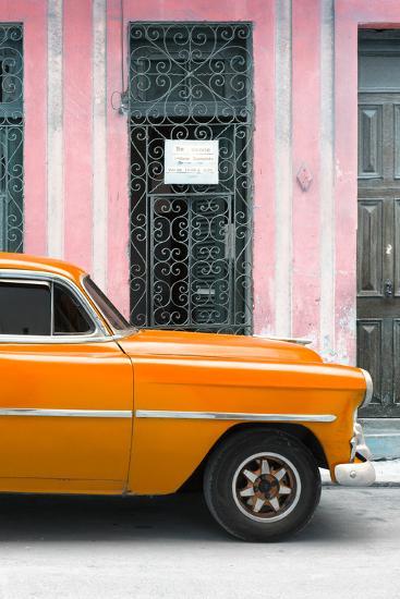 Cuba Fuerte Collection - Orange Classic Car-Philippe Hugonnard-Photographic Print