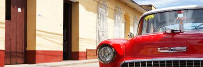 Cuba Fuerte Collection Panoramic - 1955 Chevy Red Car-Philippe Hugonnard-Photographic Print