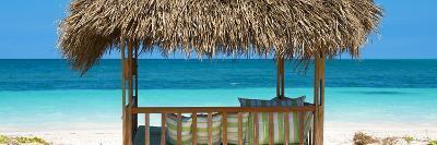 Cuba Fuerte Collection Panoramic - Beach Hut II-Philippe Hugonnard-Photographic Print