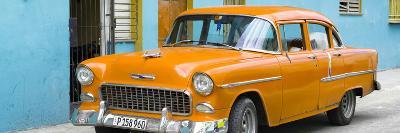 Cuba Fuerte Collection Panoramic - Beautiful Classic American Orange Car-Philippe Hugonnard-Photographic Print