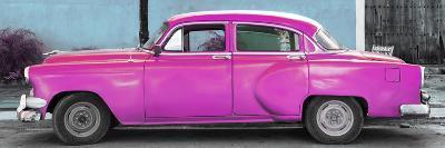 Cuba Fuerte Collection Panoramic - Beautiful Retro Pink Car-Philippe Hugonnard-Photographic Print