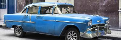 Cuba Fuerte Collection Panoramic - Blue Chevy-Philippe Hugonnard-Photographic Print