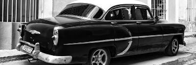 Cuba Fuerte Collection Panoramic BW - American Classic Car II-Philippe Hugonnard-Photographic Print