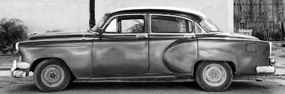 Cuba Fuerte Collection Panoramic BW - Beautiful Vintage Car-Philippe Hugonnard-Photographic Print