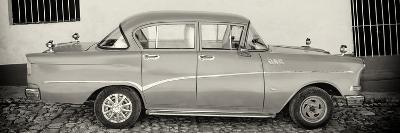 Cuba Fuerte Collection Panoramic BW - Classic Car in Trinidad-Philippe Hugonnard-Photographic Print