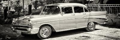 Cuba Fuerte Collection Panoramic BW - Classic Car in Vinales-Philippe Hugonnard-Photographic Print