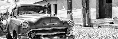 Cuba Fuerte Collection Panoramic BW - Cuban Chevy II-Philippe Hugonnard-Photographic Print
