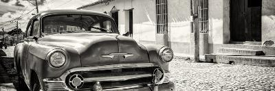 Cuba Fuerte Collection Panoramic BW - Cuban Chevy-Philippe Hugonnard-Photographic Print