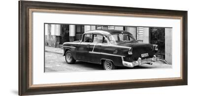Cuba Fuerte Collection Panoramic BW - Cuban Classic Car in Havana II-Philippe Hugonnard-Framed Photographic Print