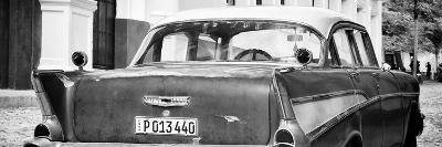 Cuba Fuerte Collection Panoramic BW - Cuban Classic Car-Philippe Hugonnard-Photographic Print