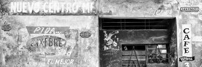 Cuba Fuerte Collection Panoramic BW - Cuban Street Advertising-Philippe Hugonnard-Photographic Print