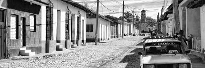Cuba Fuerte Collection Panoramic BW - Cuban Street Scene in Trinidad II-Philippe Hugonnard-Photographic Print