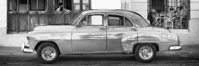 Cuba Fuerte Collection Panoramic BW - Havana Club and Classic Car-Philippe Hugonnard-Photographic Print