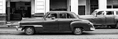 Cuba Fuerte Collection Panoramic BW - Havana Red Car-Philippe Hugonnard-Photographic Print