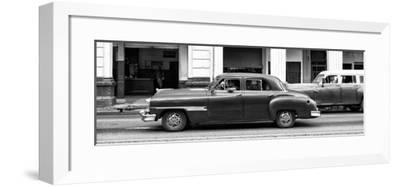 Cuba Fuerte Collection Panoramic BW - Havana Red Car-Philippe Hugonnard-Framed Photographic Print