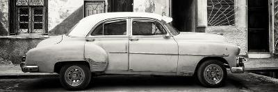 Cuba Fuerte Collection Panoramic BW - Havana's Vintage Car-Philippe Hugonnard-Photographic Print