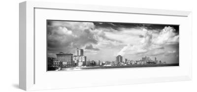 Cuba Fuerte Collection Panoramic BW - Malecon Wall of Havana II-Philippe Hugonnard-Framed Photographic Print