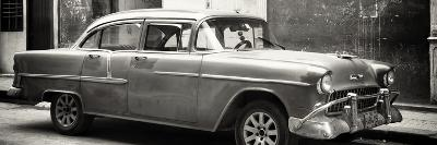 Cuba Fuerte Collection Panoramic BW - Old Chevy-Philippe Hugonnard-Photographic Print