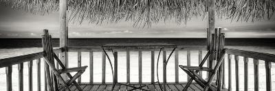 Cuba Fuerte Collection Panoramic BW - Paradise Beach Hut-Philippe Hugonnard-Photographic Print