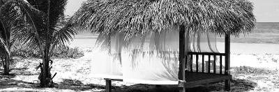 Cuba Fuerte Collection Panoramic BW - Paradise Beach Hut-Philippe Hugonnard-Photographic Print