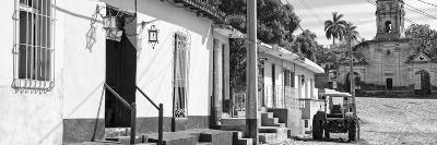 Cuba Fuerte Collection Panoramic BW - Quiet Street in Trinidad II-Philippe Hugonnard-Photographic Print
