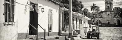 Cuba Fuerte Collection Panoramic BW - Quiet Street in Trinidad-Philippe Hugonnard-Photographic Print