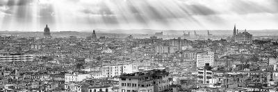 Cuba Fuerte Collection Panoramic BW - Rays of light on Havana II-Philippe Hugonnard-Photographic Print