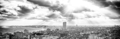 Cuba Fuerte Collection Panoramic BW - Rays of light on Havana-Philippe Hugonnard-Photographic Print