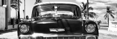 Cuba Fuerte Collection Panoramic BW - Retro Chevy-Philippe Hugonnard-Photographic Print