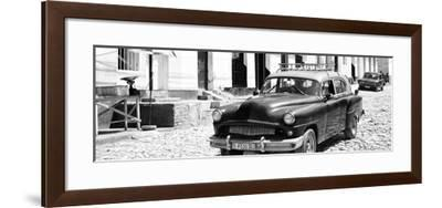 Cuba Fuerte Collection Panoramic BW - Retro Taxi in Trinidad-Philippe Hugonnard-Framed Photographic Print