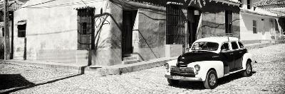 Cuba Fuerte Collection Panoramic BW - Trinidad Colorful Street Scene-Philippe Hugonnard-Photographic Print