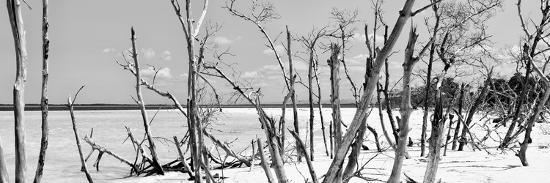 Cuba Fuerte Collection Panoramic BW - Tropical Wild Beach-Philippe Hugonnard-Photographic Print