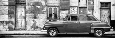 Cuba Fuerte Collection Panoramic BW - Vintage American Car in Havana II-Philippe Hugonnard-Photographic Print