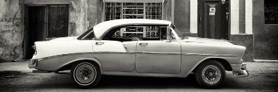 Cuba Fuerte Collection Panoramic BW - Vintage American Car-Philippe Hugonnard-Photographic Print