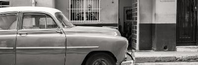 Cuba Fuerte Collection Panoramic BW - Vintage Car of Havana-Philippe Hugonnard-Photographic Print