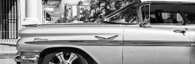 "Cuba Fuerte Collection Panoramic BW - Vintage Car ""Streetmachine"" II-Philippe Hugonnard-Photographic Print"