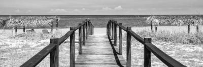 Cuba Fuerte Collection Panoramic BW - Way to the Beach-Philippe Hugonnard-Photographic Print