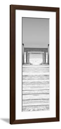 Cuba Fuerte Collection Panoramic BW - Way to the Beach-Philippe Hugonnard-Framed Photographic Print