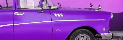 Cuba Fuerte Collection Panoramic - Close-up of Retro Purple Car-Philippe Hugonnard-Photographic Print