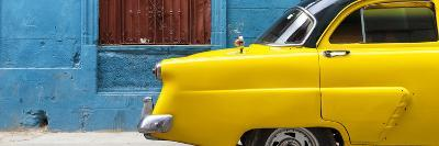 Cuba Fuerte Collection Panoramic - Close-up of Yellow Taxi of Havana II-Philippe Hugonnard-Photographic Print
