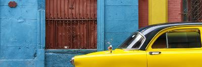Cuba Fuerte Collection Panoramic - Close-up of Yellow Taxi of Havana-Philippe Hugonnard-Photographic Print