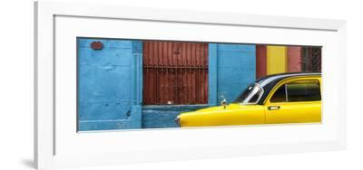 Cuba Fuerte Collection Panoramic - Close-up of Yellow Taxi of Havana-Philippe Hugonnard-Framed Photographic Print