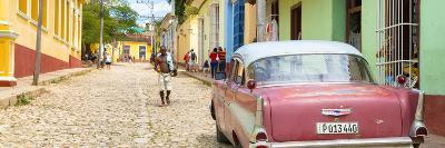 Cuba Fuerte Collection Panoramic - Colorful Street Scene in Trinidad-Philippe Hugonnard-Photographic Print