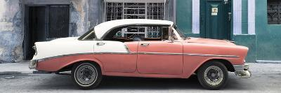 Cuba Fuerte Collection Panoramic - Coral Vintage American Car-Philippe Hugonnard-Photographic Print