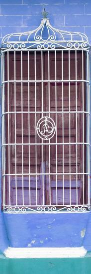 Cuba Fuerte Collection Panoramic - Cuban Blue Window-Philippe Hugonnard-Photographic Print