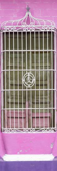 Cuba Fuerte Collection Panoramic - Cuban Pink Window-Philippe Hugonnard-Photographic Print