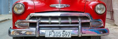 Cuba Fuerte Collection Panoramic - Detail on Red Classic Chevy-Philippe Hugonnard-Photographic Print