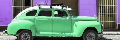 Cuba Fuerte Collection Panoramic - Green Vintage Car Trinidad-Philippe Hugonnard-Photographic Print