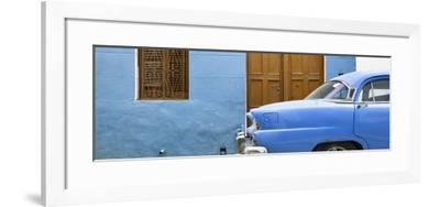 Cuba Fuerte Collection Panoramic - Havana Blue Street-Philippe Hugonnard-Framed Photographic Print