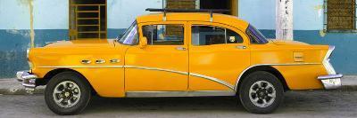 Cuba Fuerte Collection Panoramic - Havana Classic American Orange Car-Philippe Hugonnard-Photographic Print